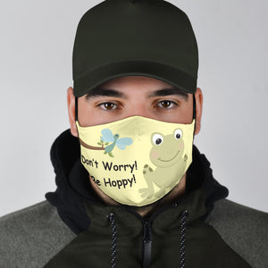 Funny Hoppy Frog Face Mask