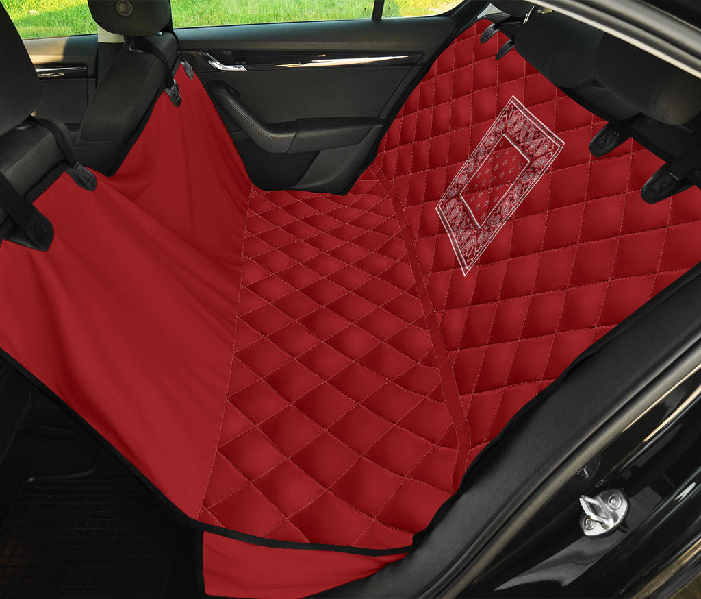 Classic Red Bandana Car Pet Seat Covers
