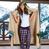 South Africa Flag Hooded Blankets