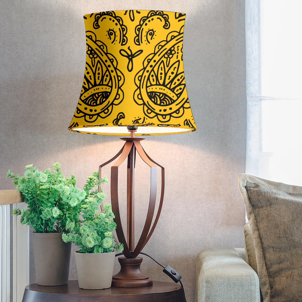 Gold Paisley Drum Lampshades