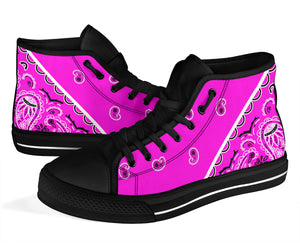 Abruptly Pink Bandana High Top Sneakers - No Box