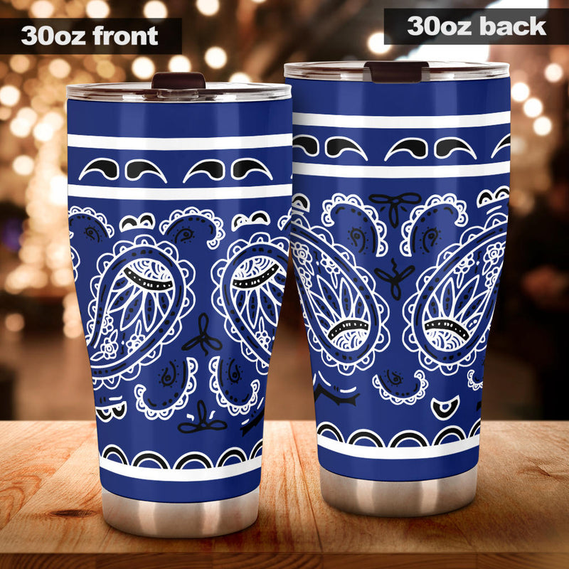 Royal Blue Bandana Tumblers