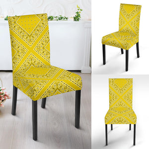 Sunshine Yellow Bandana Dining Chair Covers - 4 Patterns