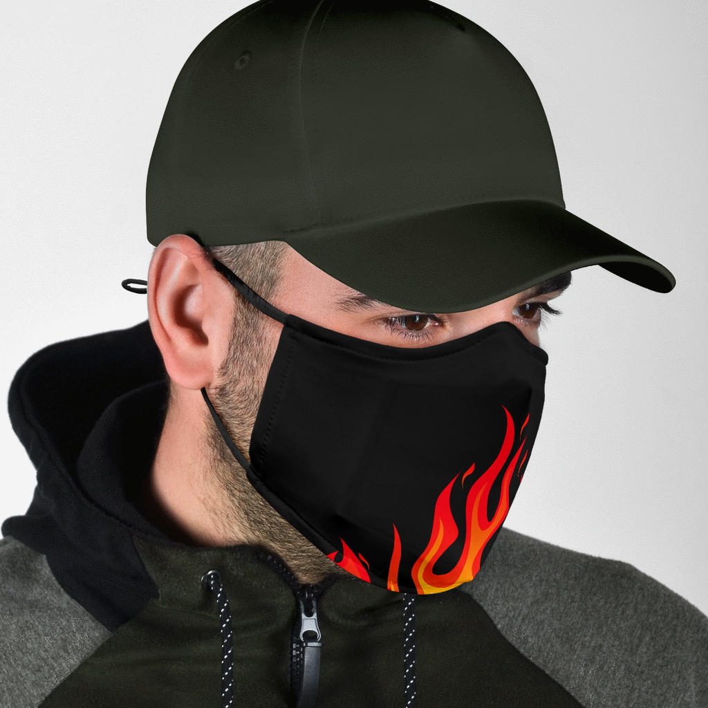 flame bandana coronavirus mask for men