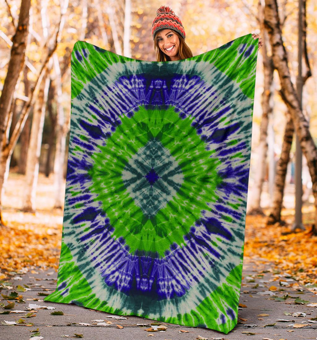 Tie Dye Fleece Throw Blanket