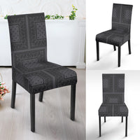 Gray and Black Bandana Dining Chair Covers - 4 Patterns