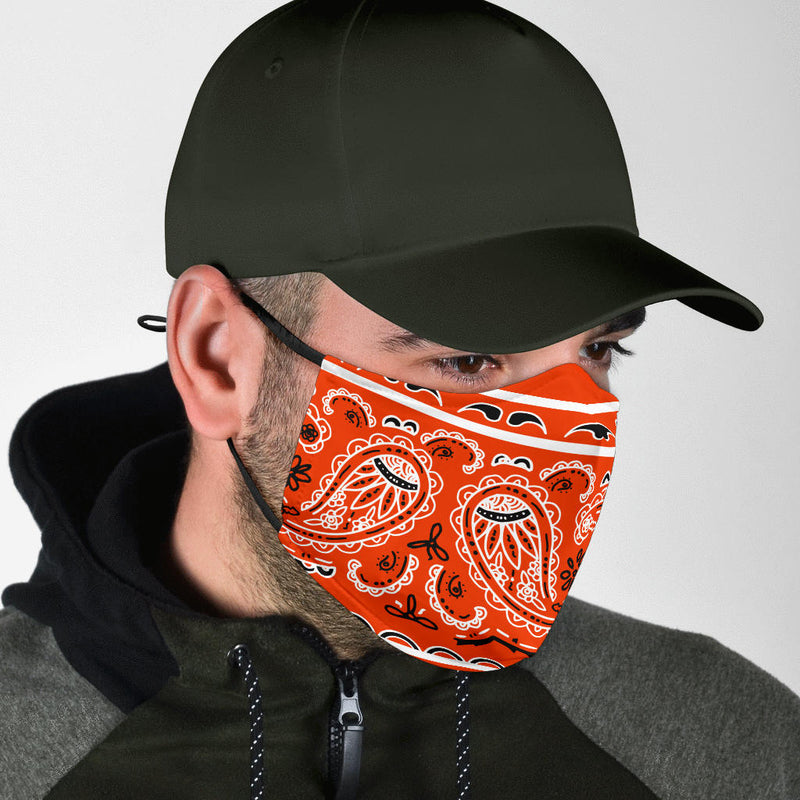 Edge Perfect Orange Bandana Face Masks