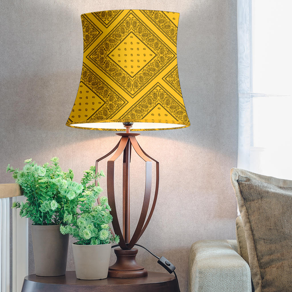 Gold and Black Bandana Drum Lampshade
