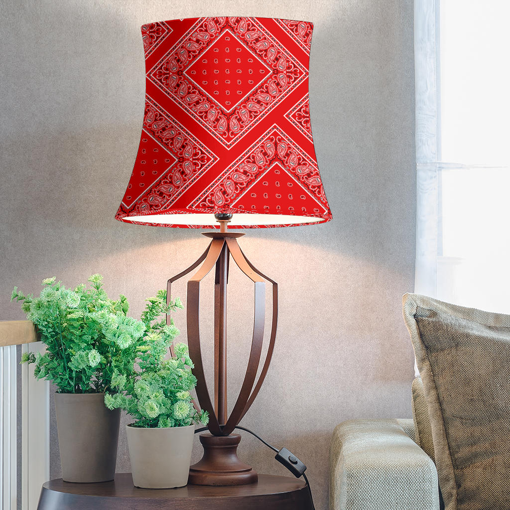 Red Bandana Drum Lampshade