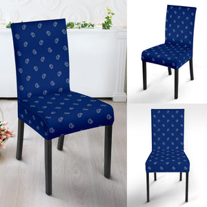 Blue and Gray Bandana Dining Chair Covers - 4 Patterns