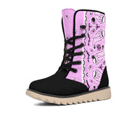 Light Pink Bandana Women's Winter Boots
