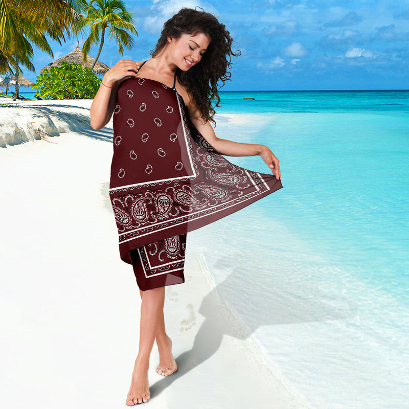 girl in burgundy sarong