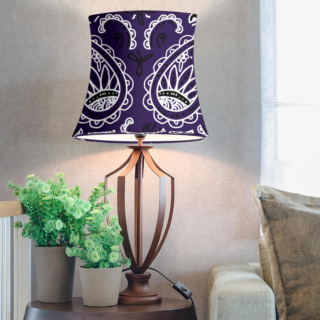 Purple Paisley Drum Lampshade