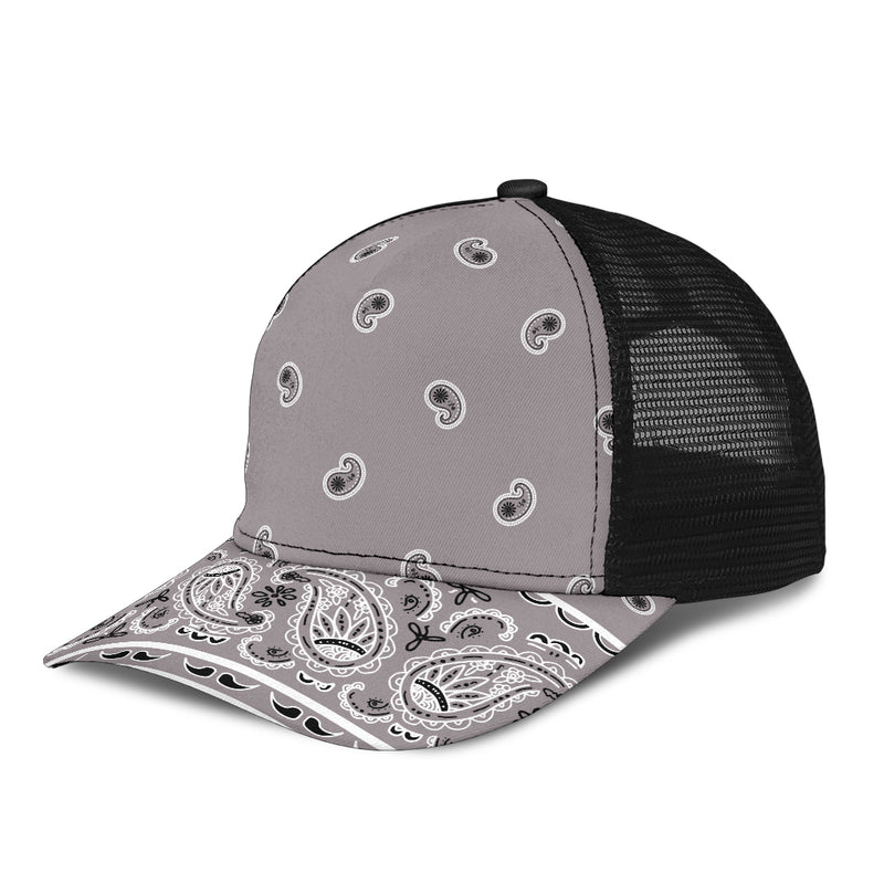 gray bandana sports cap