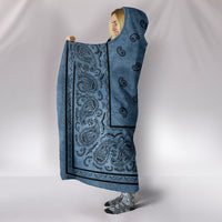 Ultimate Faded Blue Bandana Hooded Blanket