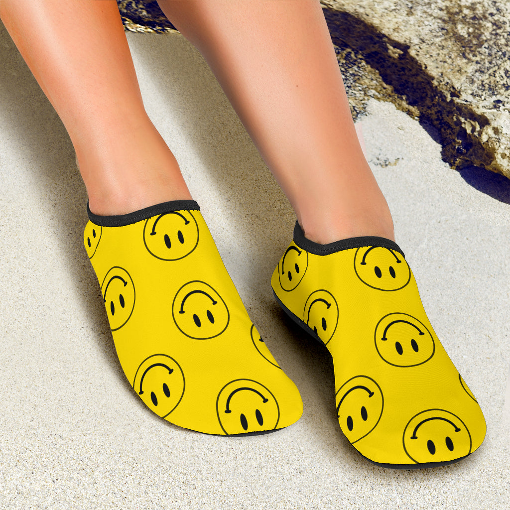 Ridiculously Happy Yellow Water Shoes