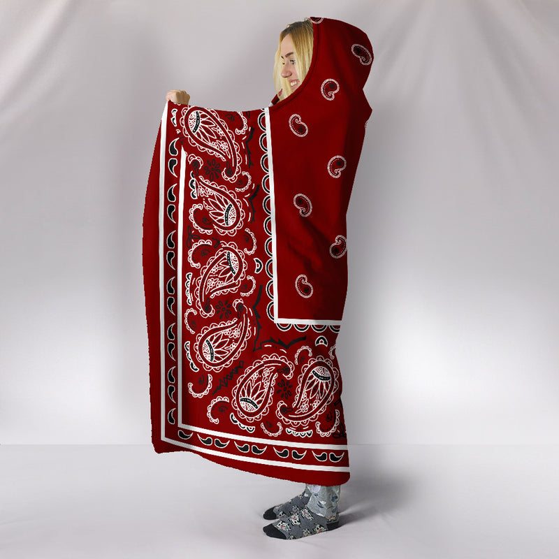 Ultimate Maroon Bandana Hooded Blanket