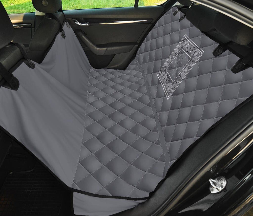 gray bandana back car seat cover
