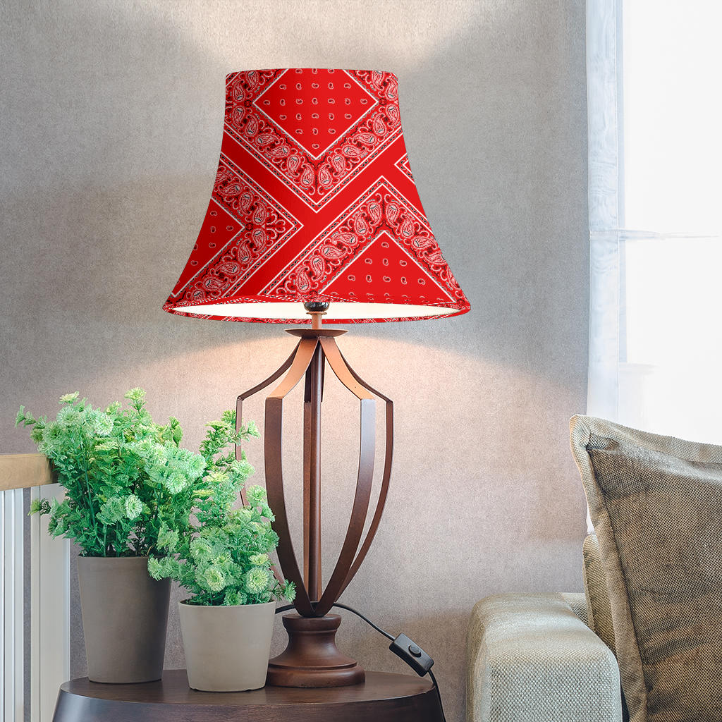 Red Bandana Bell Lampshade