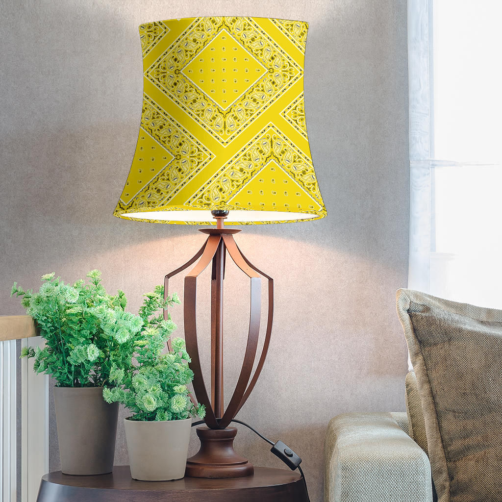 Yellow Bandana Drum Lampshade