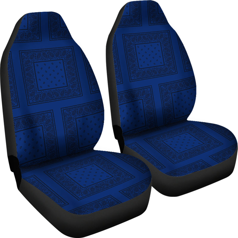 blue and black car seat cover