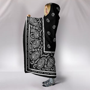 Bandana Hooded Blanket Side View