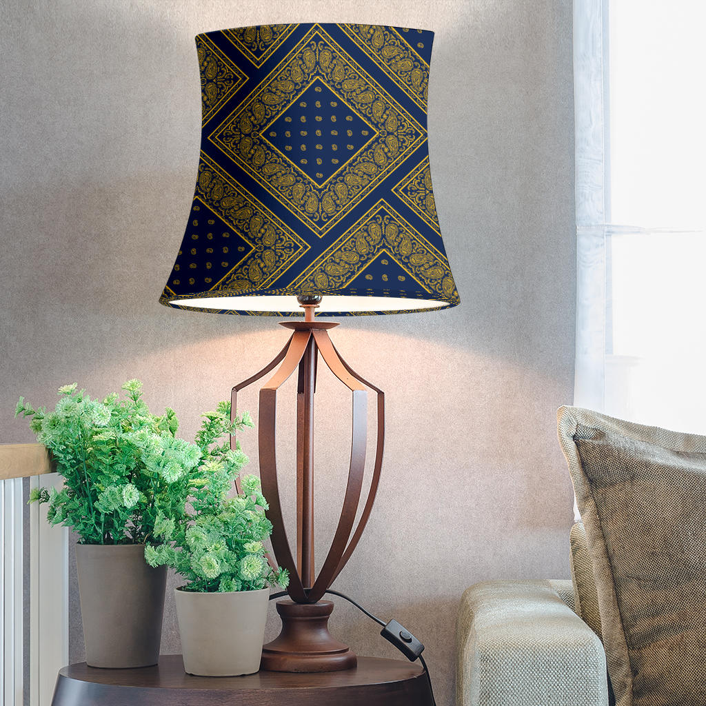 navy blue bandana lampshade