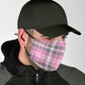 Pink Argyle Adjustable Face Mask