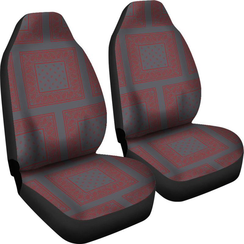 gray and red car seat cover