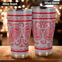 Gray and Red Bandana Tumblers