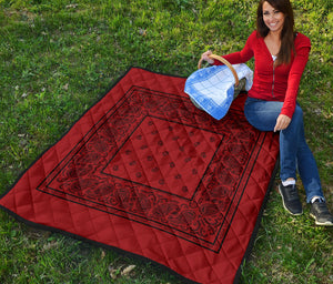 Red with Black Bandana Quilts