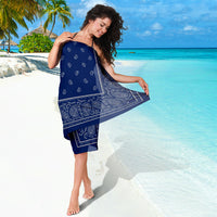 Blue and Gray Bandan Beach Cover Up