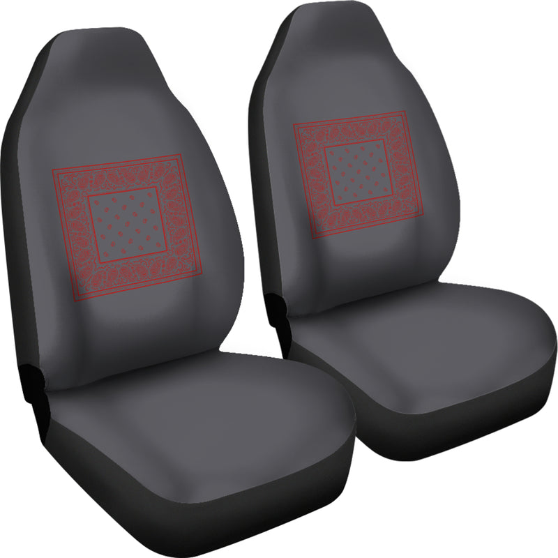 Gray with red car seat cover