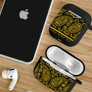 black and gold AirPod case cover