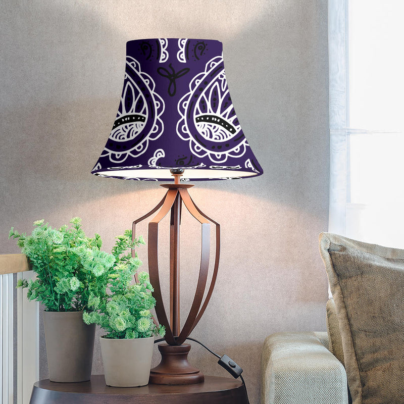 Royal Purple Paisley Bell Lampshade