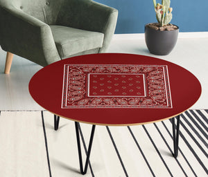Maroon Bandana End Table