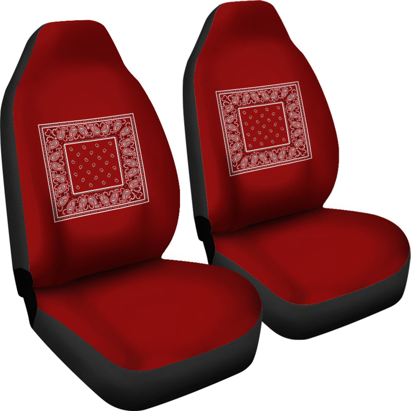 maroon car seat covers