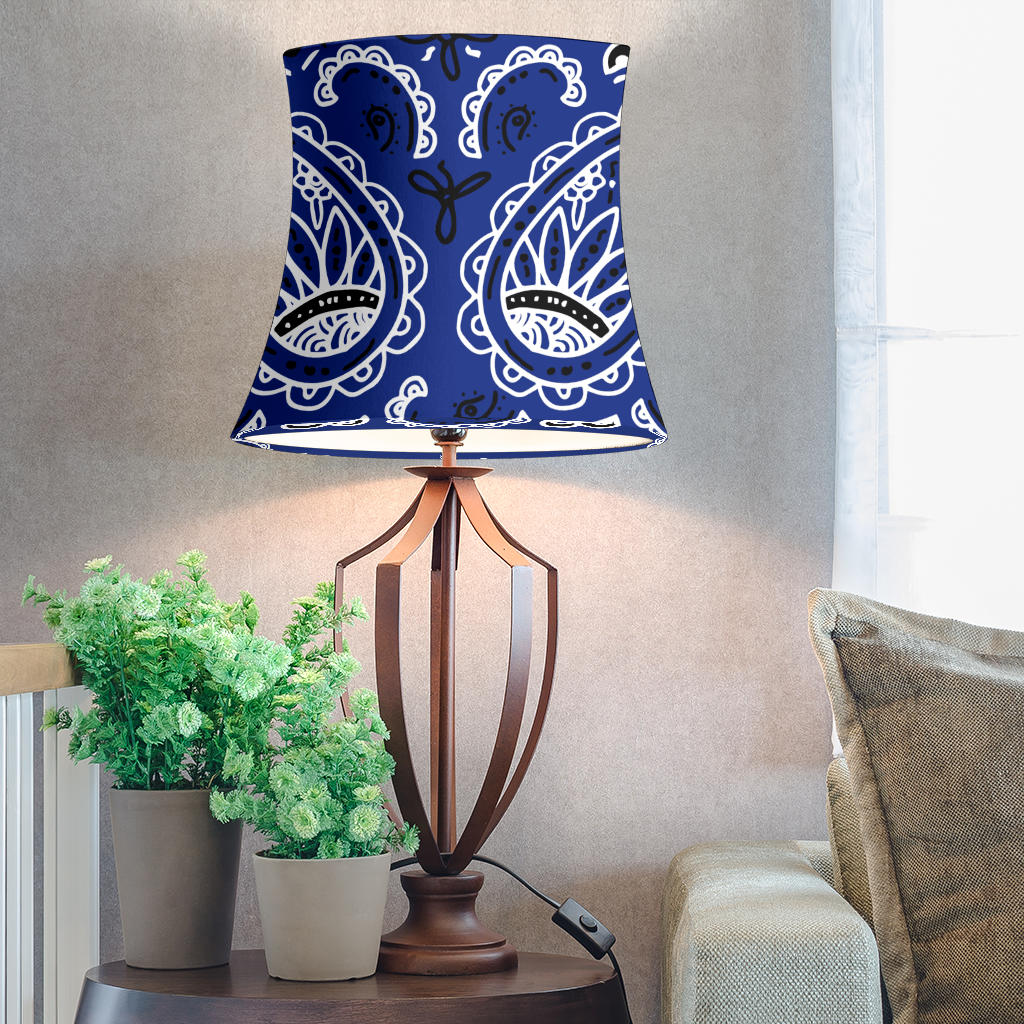 Royal Blue Paisley Drum Lampshade