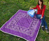 Purple Bandana Quilted blanket