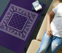 Royal Purple Bandana Rectangular Coffee Table