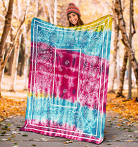 Boho Tie Dye Bandana Fleece Throw Blankets
