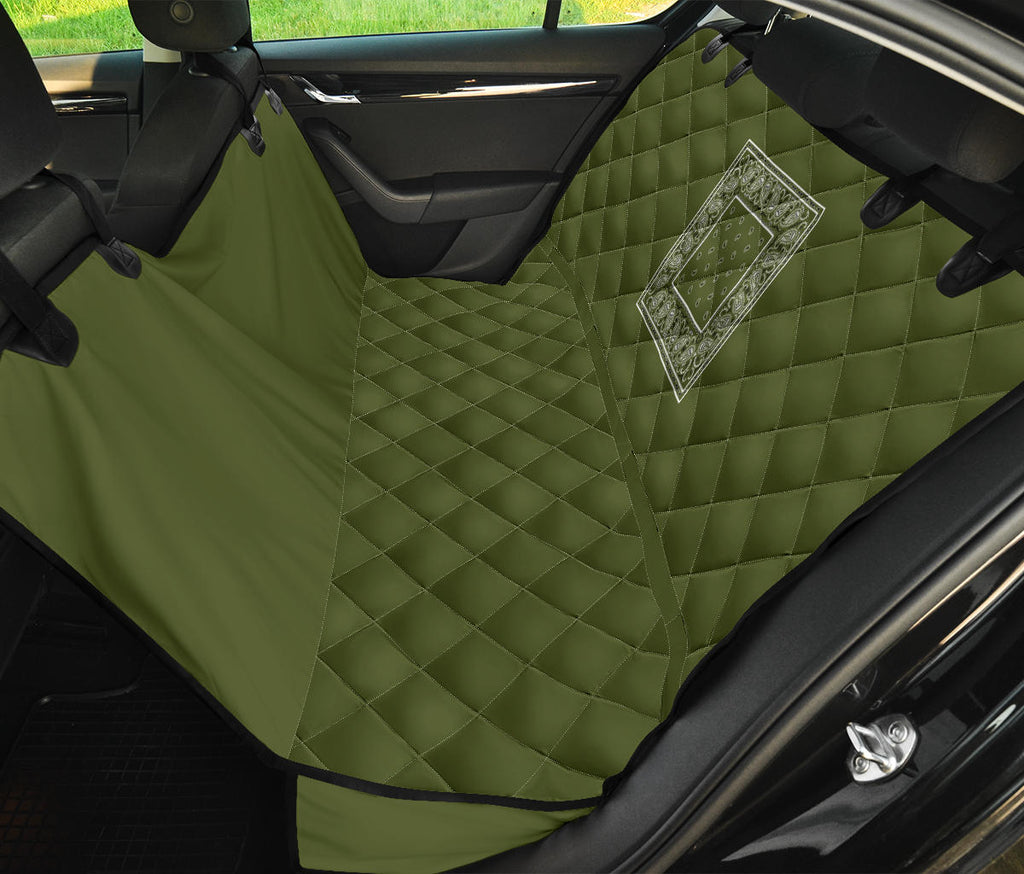 army green classic bandana pet car seat