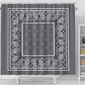 Classic Gray Bandana Bathroom Decor