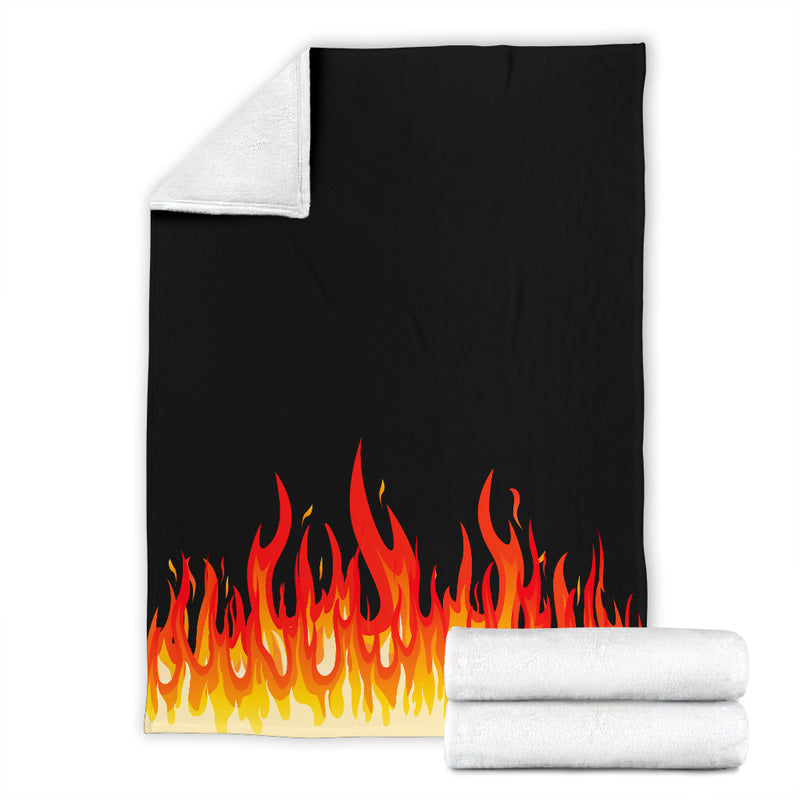 Fire Bandana Fleece Throw Blanket