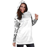 White Bandana Hoodie Tunic Dress