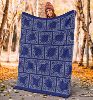 Royal Blue Bandana Fleece Blanket