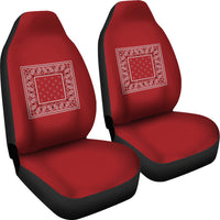 Classic red car seat cover