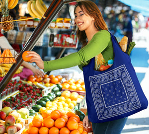 Royal Blue Bandana Grocery Bag 3-Pack