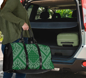 Classic Green Bandana Travel Bag