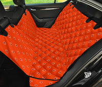 orange paisley back seat cover for pets